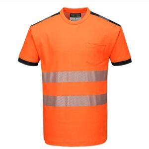 tshirt de travail haute visibilité orange fluo