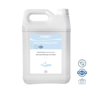 Bidon de gel hydroalcoolique de la marque flowey 5L
