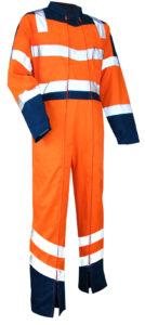 vetements de travail lma combinaison haute visibilite lma vigilance orange