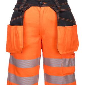 vetements de travail portwest bermuda haute visibilite pw343 orange 1 scaled