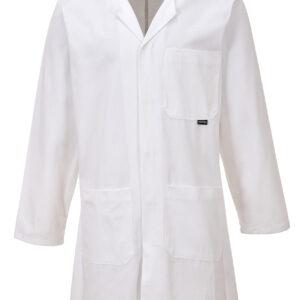 vetements de travail portwest blouse manches coton c851 blanc scaled