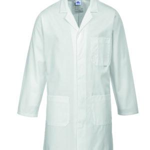 vetements de travail portwest blouse professionnelle manches longues 2852 blanc scaled