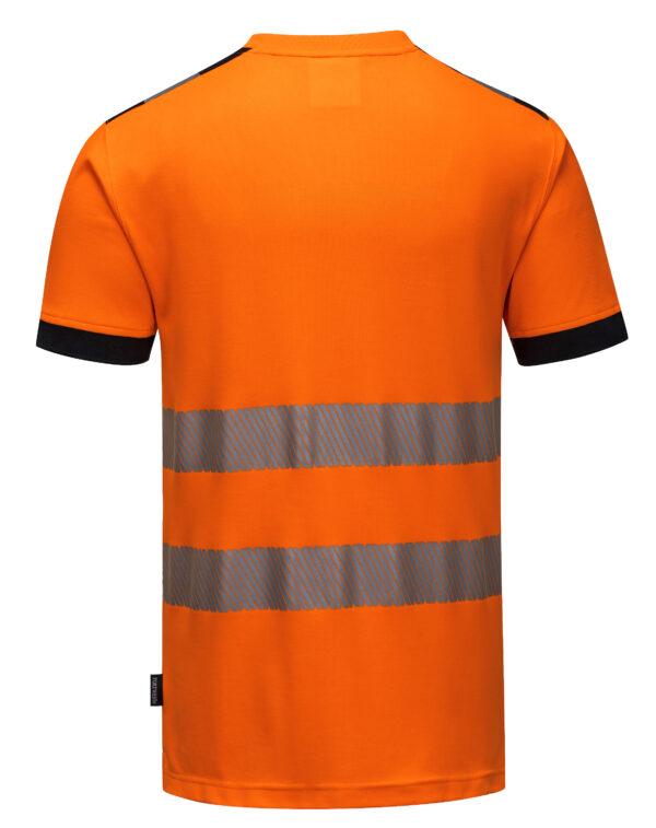vetements de travail portwest tshirt haute visibilite t181 orange noir 2 scaled